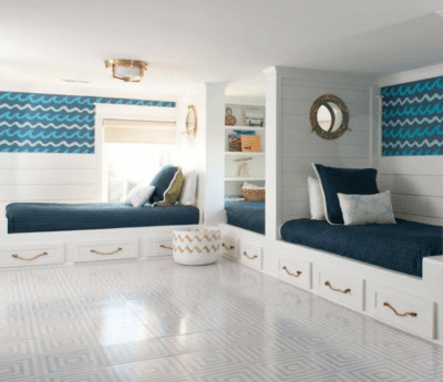 MIRTH TILE CONCENTRIC PATTERN IN BEDROOM