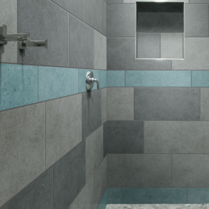 Crossville tile Argent collection installed in Shower