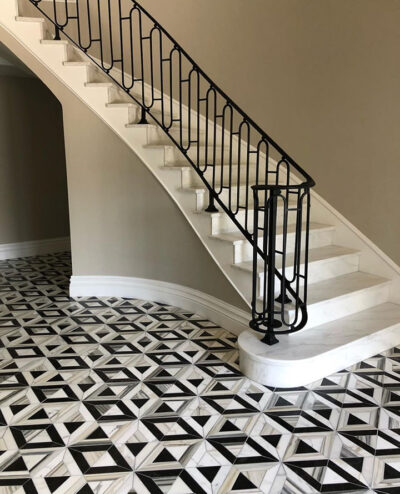 sds entry way tile black and white