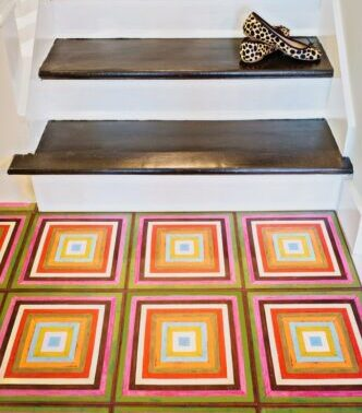 MIRTH TILE Harmony PATTERN ON stairs