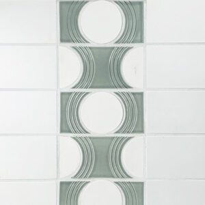 REDROCK TILE RADIUS COLLECTION TILE CALLED HALF MOON ECHO MOSAIC