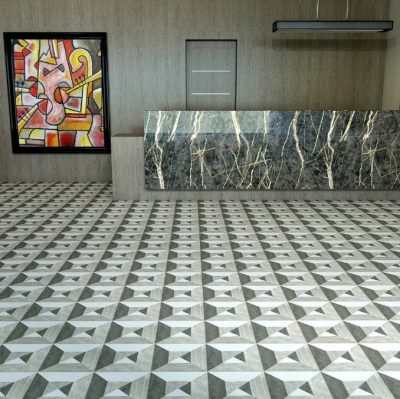 MIRTH JAGER PORCELAIN COLLECTION INSTALLED IN LOBBY
