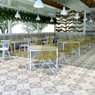 MIRTH RADCLIFF PORCELAIN COLLECTION INSTALLED IN DINING ROOM