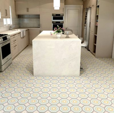 MIRTH TYBEE PORCELAIN COLLECTION INTALLED IN KITCHEN